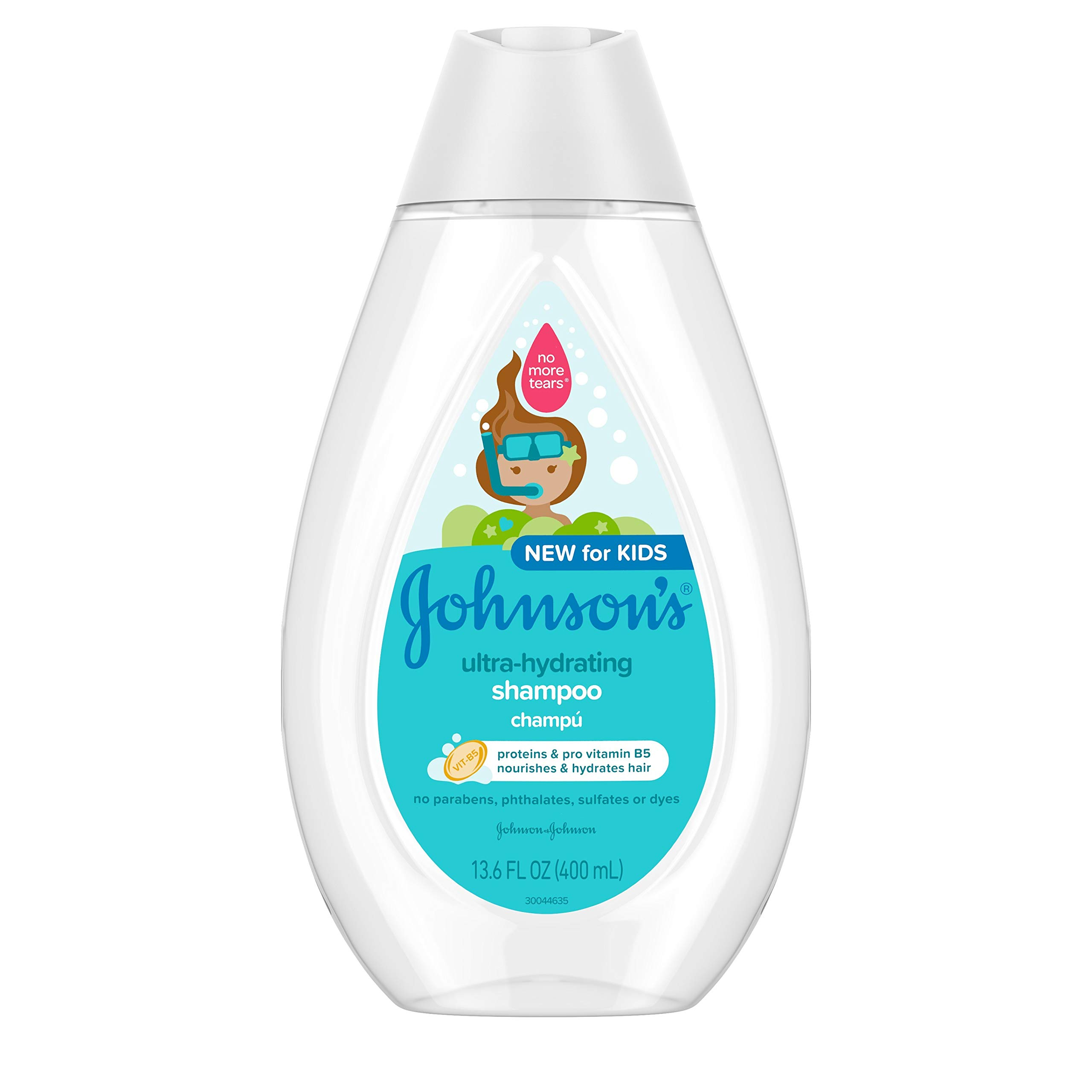 Johnson's Ultra-Hydrating Tear-Free Kids' Shampoo with Pro- Vitamin B5 & Proteins, Paraben-, Sulfate- & Dye-Free Formula…