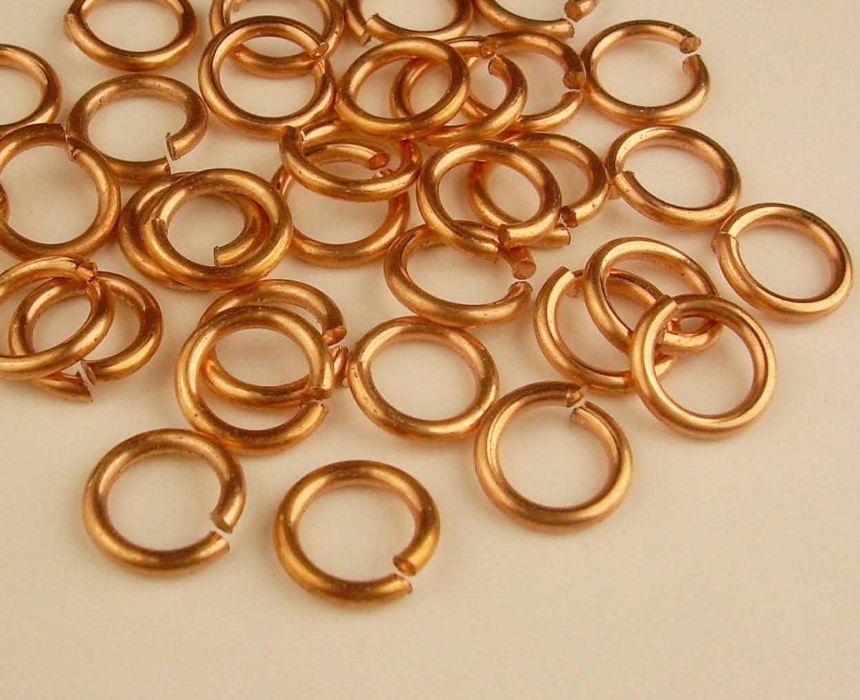 BULK 1000 Split rings 7mm gold tone