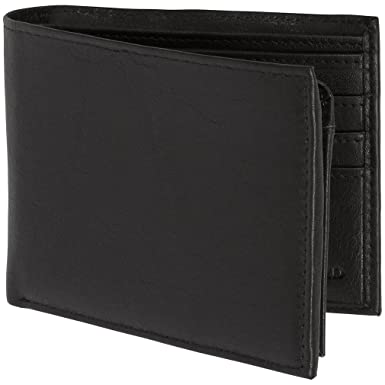 77e6c9bb15d8 Genuine Leather Wallets For Men - Bifold Mens Wallet With ID Window RFID  Blocking at Amazon Men s Clothing store