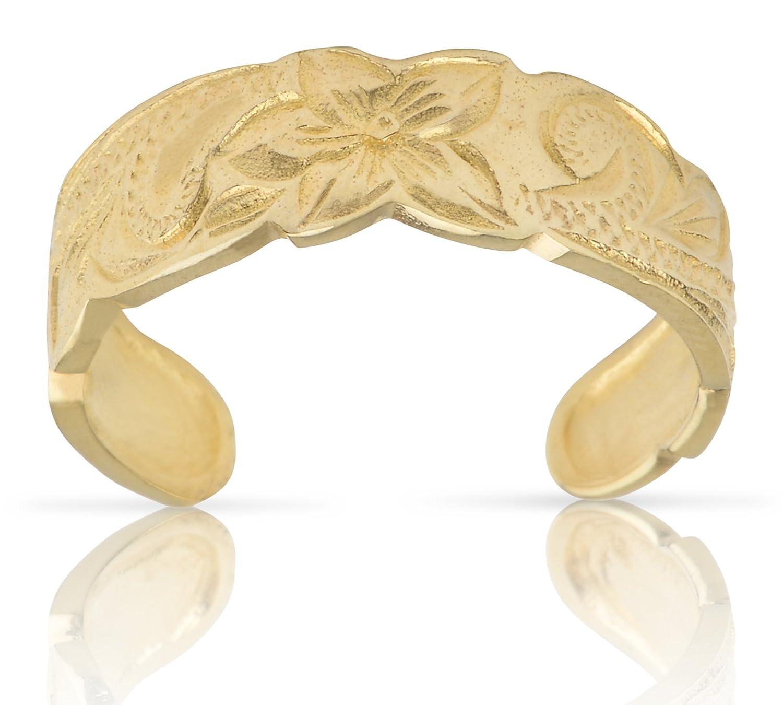 Amazon hawaiian heirloom jewelry 14k gold finish toe ring jewelry izmirmasajfo
