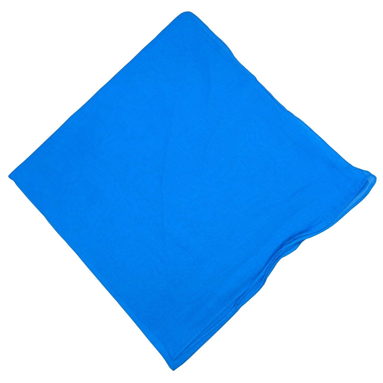 Halstuch 50x50cm Baumwolle 1A Qualität Einfarbig Bedruckbar Bestickbar Azofrei Uni Tuch Kopftuch Schultertuch Accessoire