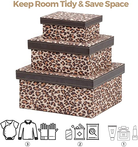 Ranslen - Cajas de cartón decorativas con tapas, caja de ...