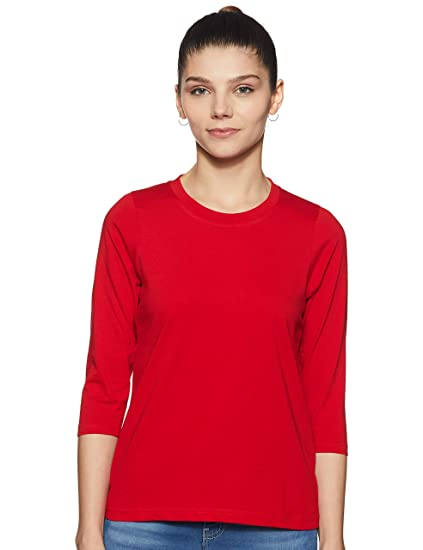 Miss Chase Women's Basic T-Shirt Women's Tops at amazon