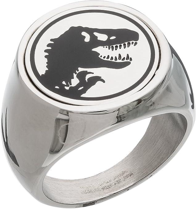 Jurassic World Fallen Kingdom - Anillo de acero inoxidable para hombre, talla 10