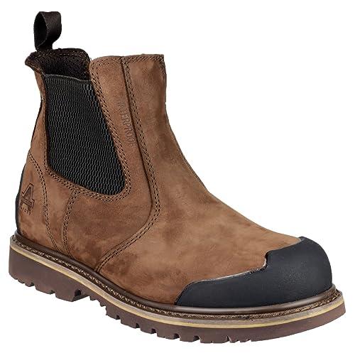 Amblers Steel - Calzado de protección de cuero para hombre, color marrón, talla 39.5