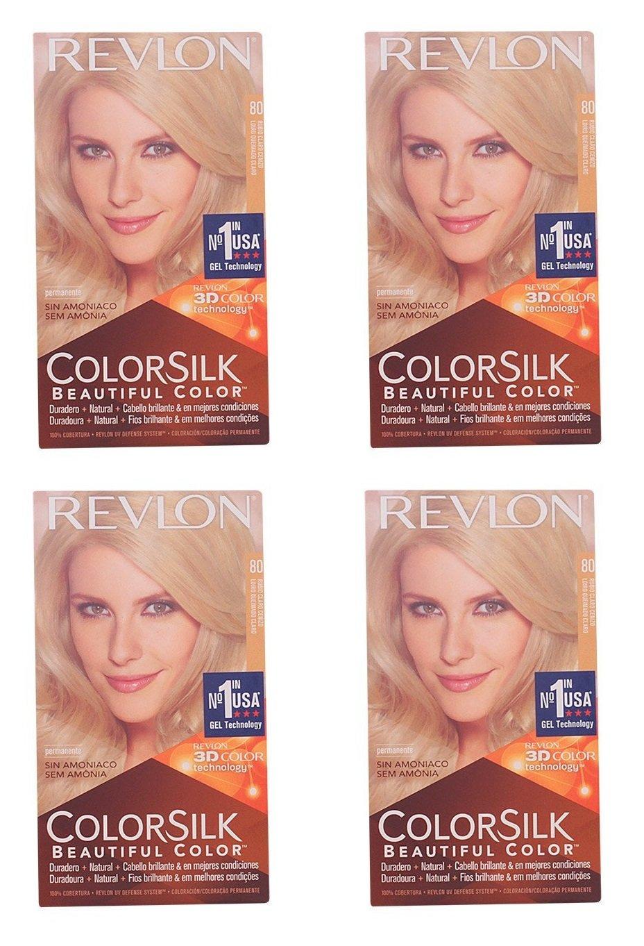 Revlon Colorsilk Beautiful Color, Medium Golden Chestnut Brown 46 1 ea (Pack of 4) + FREE Curad Dazzle Bandages 25 Ct