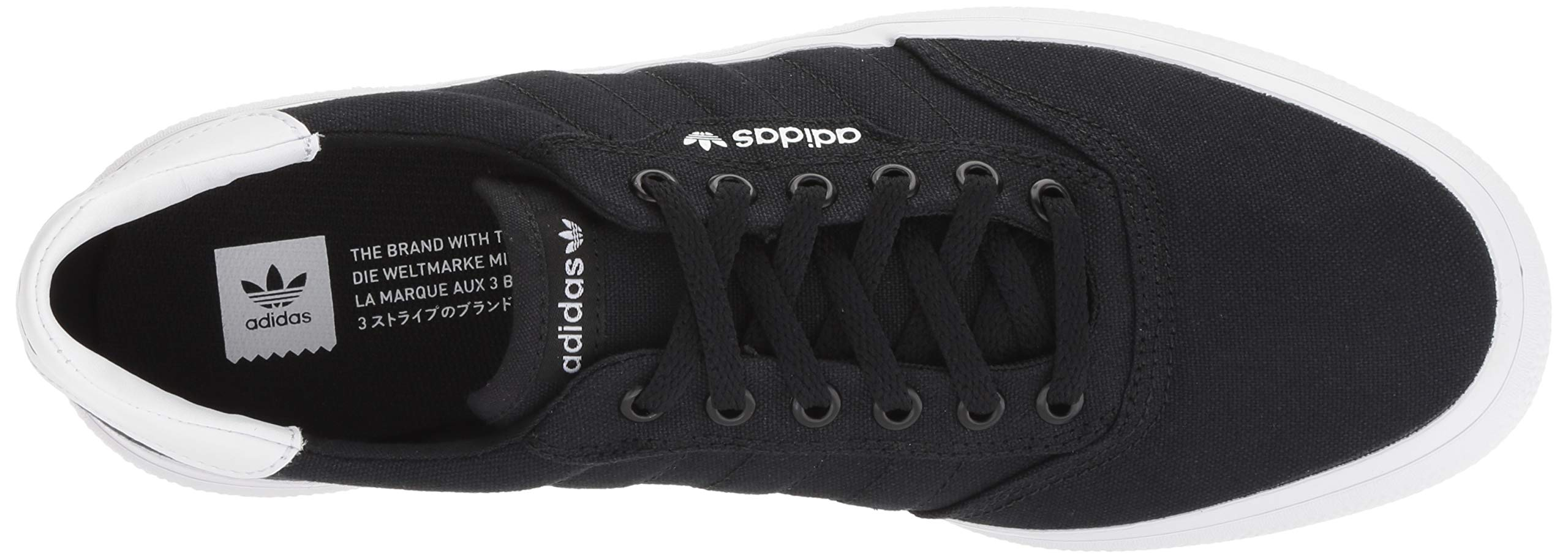 adidas Originals unisex-adult Black/White, 3 MC Skate Shoe 6.5 M US by adidas Originals (Image #8)