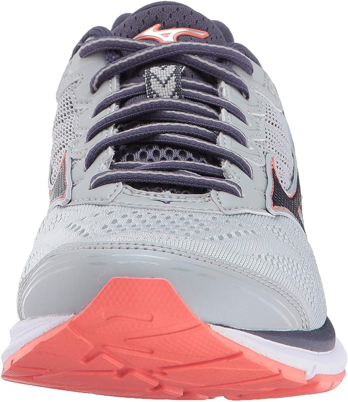 Mizuno Women's Wave Rider 21 Running Shoes Silver / Black / Pink