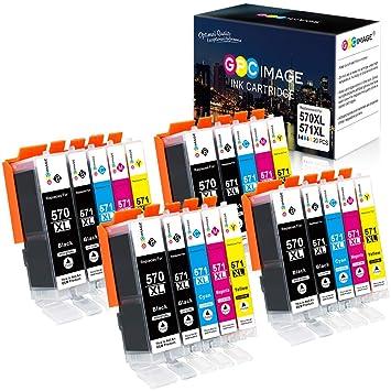 GPC Image 20 Pack PGI-570XL CLI-571XL Cartucho de Tinta Compatible ...
