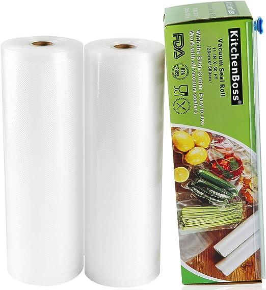 2 ROLLS TEXTURED VACUUM VAC SEALER SOUS VIDE FOOD SAVER STORAGE BAGS RIGHT PACK