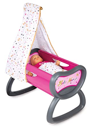 Baby Bed Wieg.Smoby Baby Nurse Wieg Variou Amazon Co Uk Toys Games