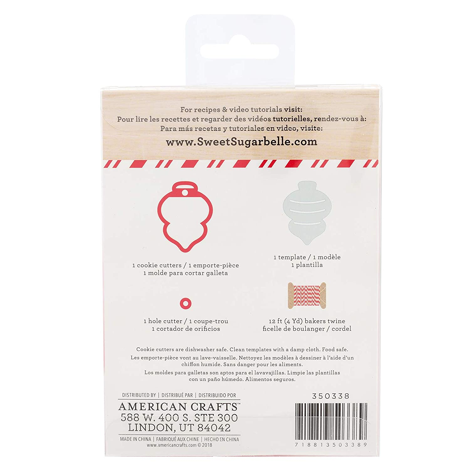 Amazon.com: Sweet Sugarbelle - Holiday 2018 Ornament Kits - Christmas, Snowflake and Candy Cane - Cookie Cutters, Templates and Twine: Home & Kitchen