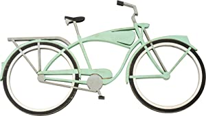 Primitives by Kathy Shaped Wall Décor, 18.75 x 11-Inches, Teal Bicycle