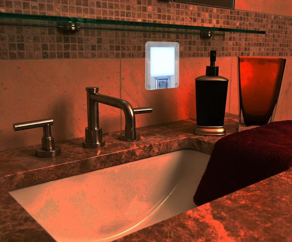 PM-316 Dusk//Dawn Sensor Bedrooms Datexx Sentina Zen LED Motion Sensor Night Light Soft Glow for Kitchens Programmable Timer Bathrooms