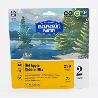 product image for Backpacker's Pantry Hot Apple Cobbler Mix, 2 Servings Per Pouch, Freeze Dried Food, 3 Grams of Protein, Vegetarian