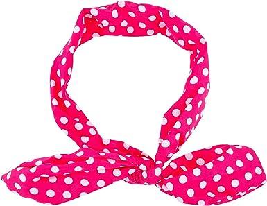 Pink Polka Dot Headband