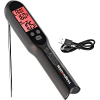 Rechargeable Meat Thermometer, Super Fast Digital Food Cooking Thermometer Accurate for Kitchen Food, Built-in Meat…