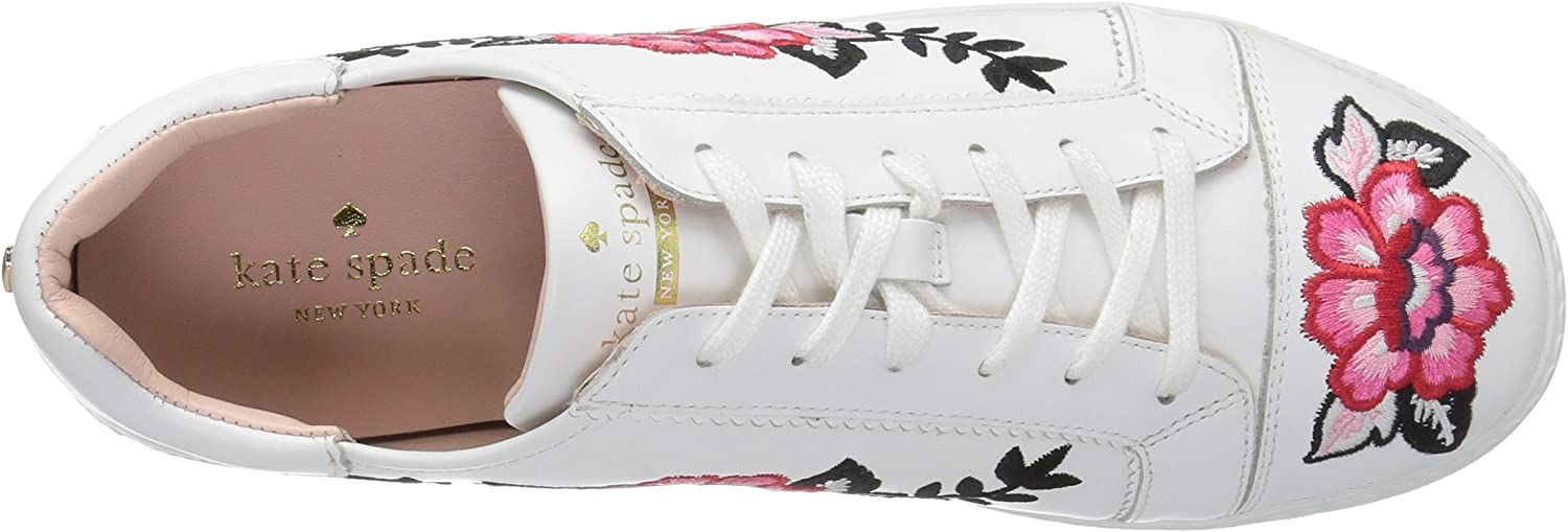 Kate Spade New York Womens Everhart Fabric Low Top Lace Up Fashion Sneakers White