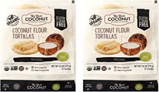 product image for The Real Coconut Gluten&Grain Free 12 Tortillas Coconut Flour 7.6oz, 2 Pack (Original)