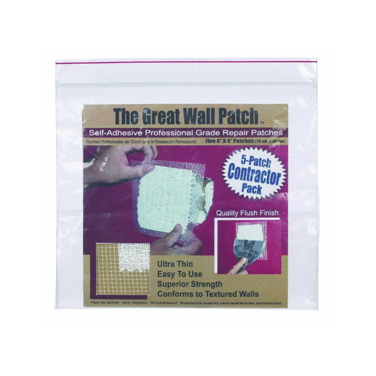 "The Great Wall Patch GWPC4P 4"" Wall Patch 5 Count"