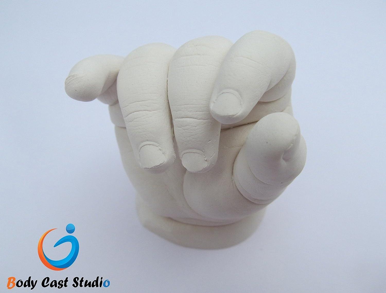 Silver Metallic Colour up to 4-5 Newborn Cast 500g Alginate Baby 3D Casting Kit -Big   Hand Print Foot Print