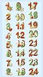 CREApop® Softy-Sticker Adventszahlen bunt