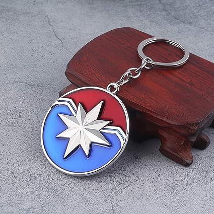 TUDUDU Marvel Joyería Capitán Marvel Escudo Llavero Los ...