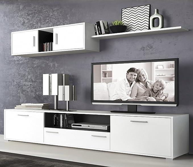LIQUIDATODO ® - Muebles de Salon Modernos Color Cambrian/Blanco - dimas