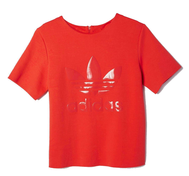 ADIDAS ORIGINALS SWEATSHIRT Red women 74% Cotton 21