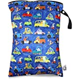 Qilmy Giraffe 2PCS Wet Dry Bags Waterproof Reusable with Two Sizes for Travel Summer Camp Beach Gym Diapers Swimsuit Dirty Gym Clothes Toiletries Toys