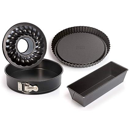 30e13e6601ce5 Amazon.com: Kaiser Bakeware 3 Pcs Baking Pan Set - 10 inch ...