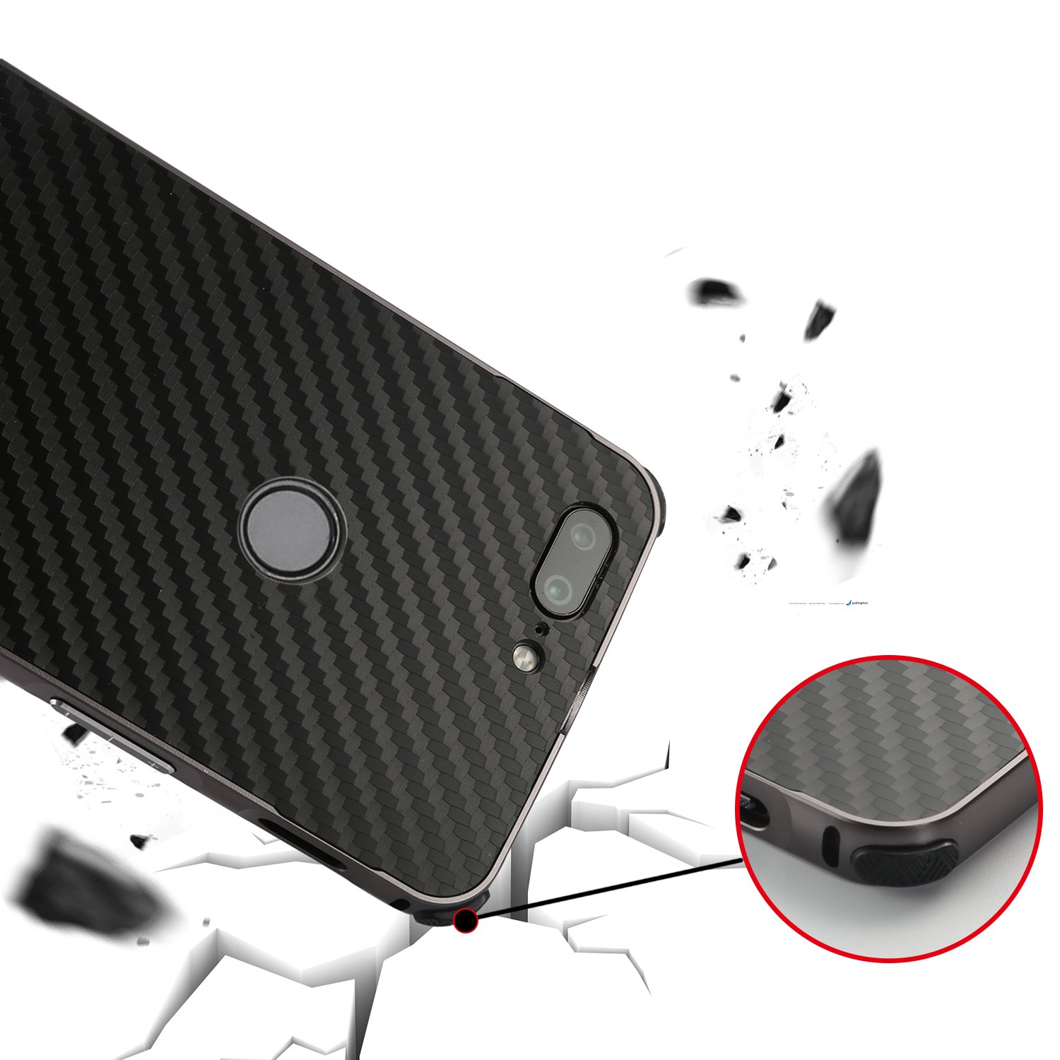 Oneplus 5T Case,DAMONDY Luxury Carbon Fiber Design Ultra thin Imitation Metal Brushed Premium Aluminum Shockproof Protective Bumper Hard Back Case Cover for OnePlus 5T (2017)-Gold by DAMONDY (Image #5)