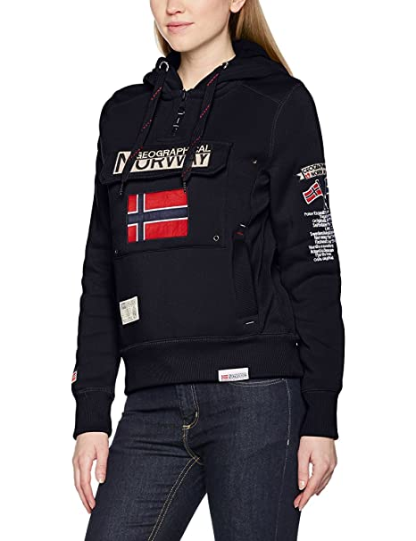 Geographical Norway GWN832F/GN, Sudadera con Capucho Para Mujer