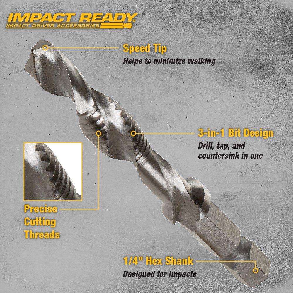 1//4 Capacity DEWALT DWADTQTR5SET Impact Ready 5-Piece Drill Tap Set