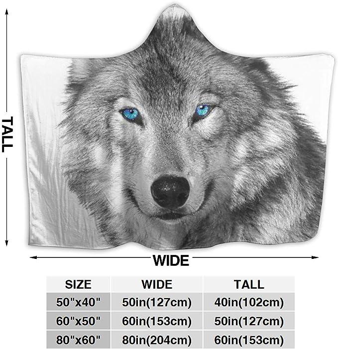 Wolf Hooded BlanketHusky Wearable Blanket