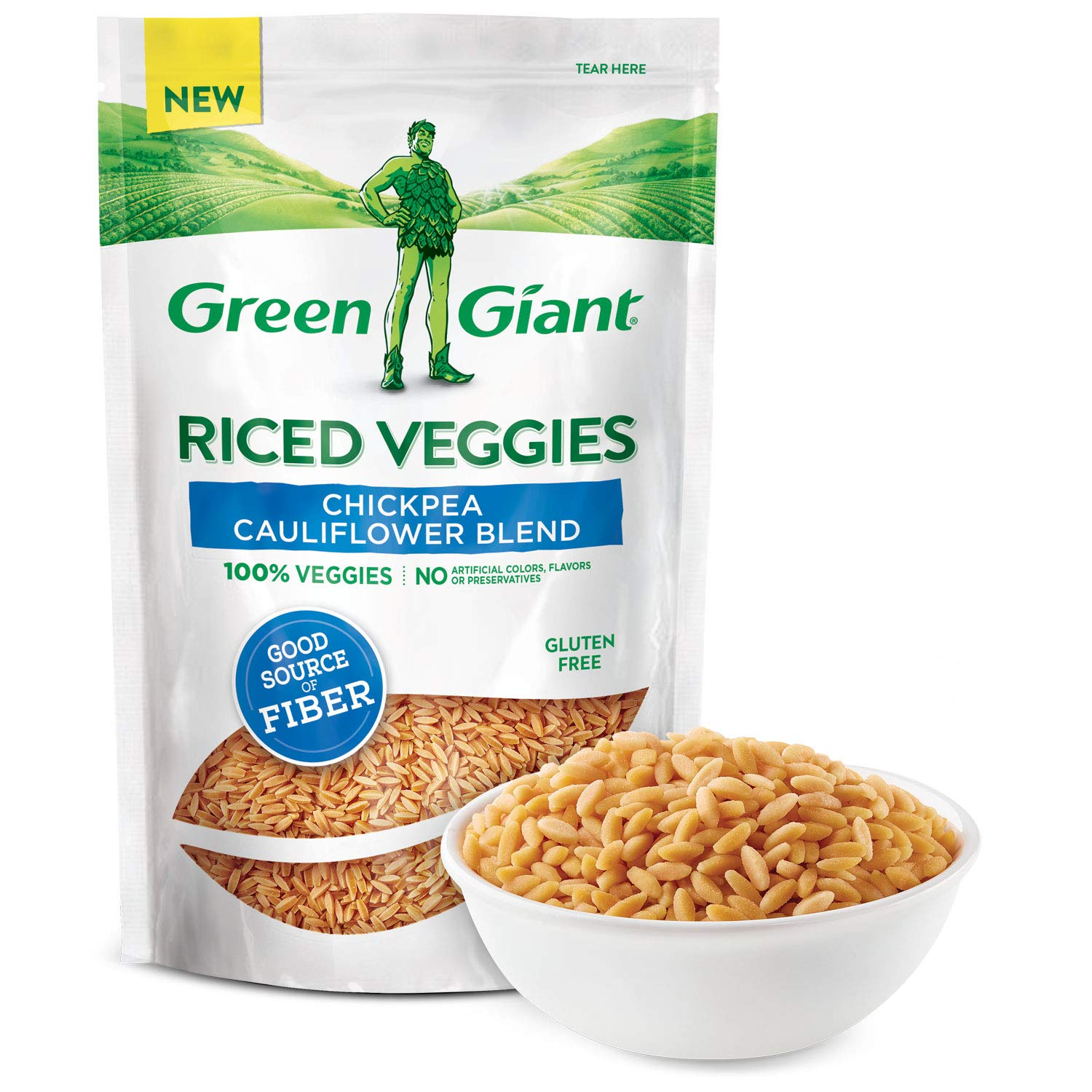 Green Giant Veggie Rice, Chickpea Cauliflower Blend, 7 Ounce