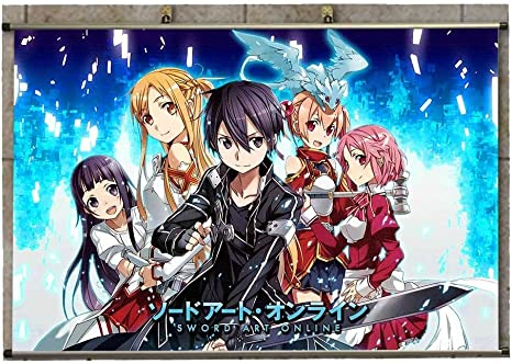 Canvas Wall Scroll Poster Anime Sword Art Online Asuna
