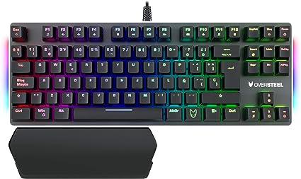 Oversteel - Teclado gaming mecánico TKL TITANIUM con RGB, switch rojo, idioma español: Amazon.es: Informática