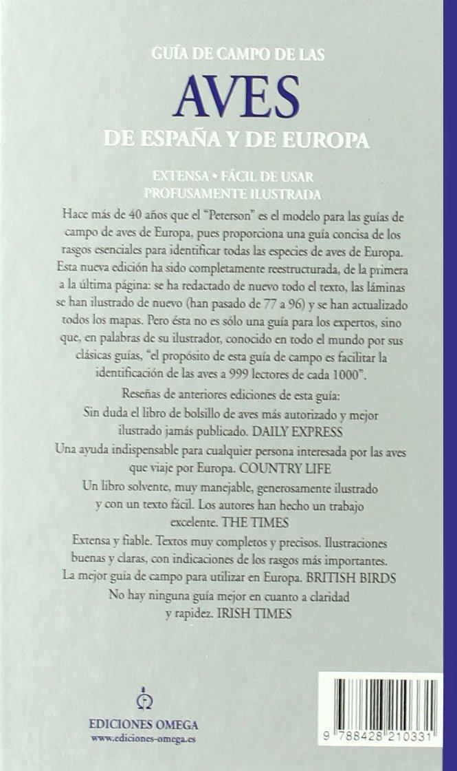 GUIA DE CAMPO AVES DE ESPAÑA Y EUROPA GUIAS DEL NATURALISTA-AVES: Amazon.es: PETERSON, MOUNTFORT: Libros