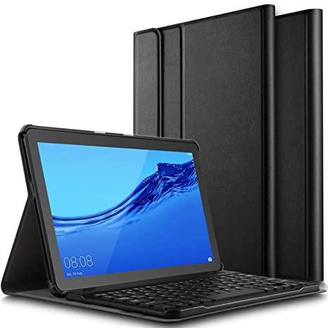 ELTD Teclado Estuche para Huawei MediaPad T5 10,[QWERTY Inglés], Slim Protectora