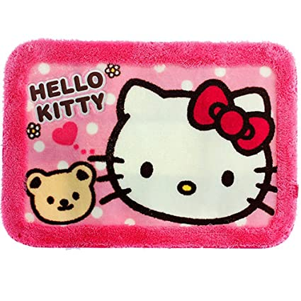 Amazon Com Hello Kitty Bath Mat Rug Bathroom Floor Non Slip Pink