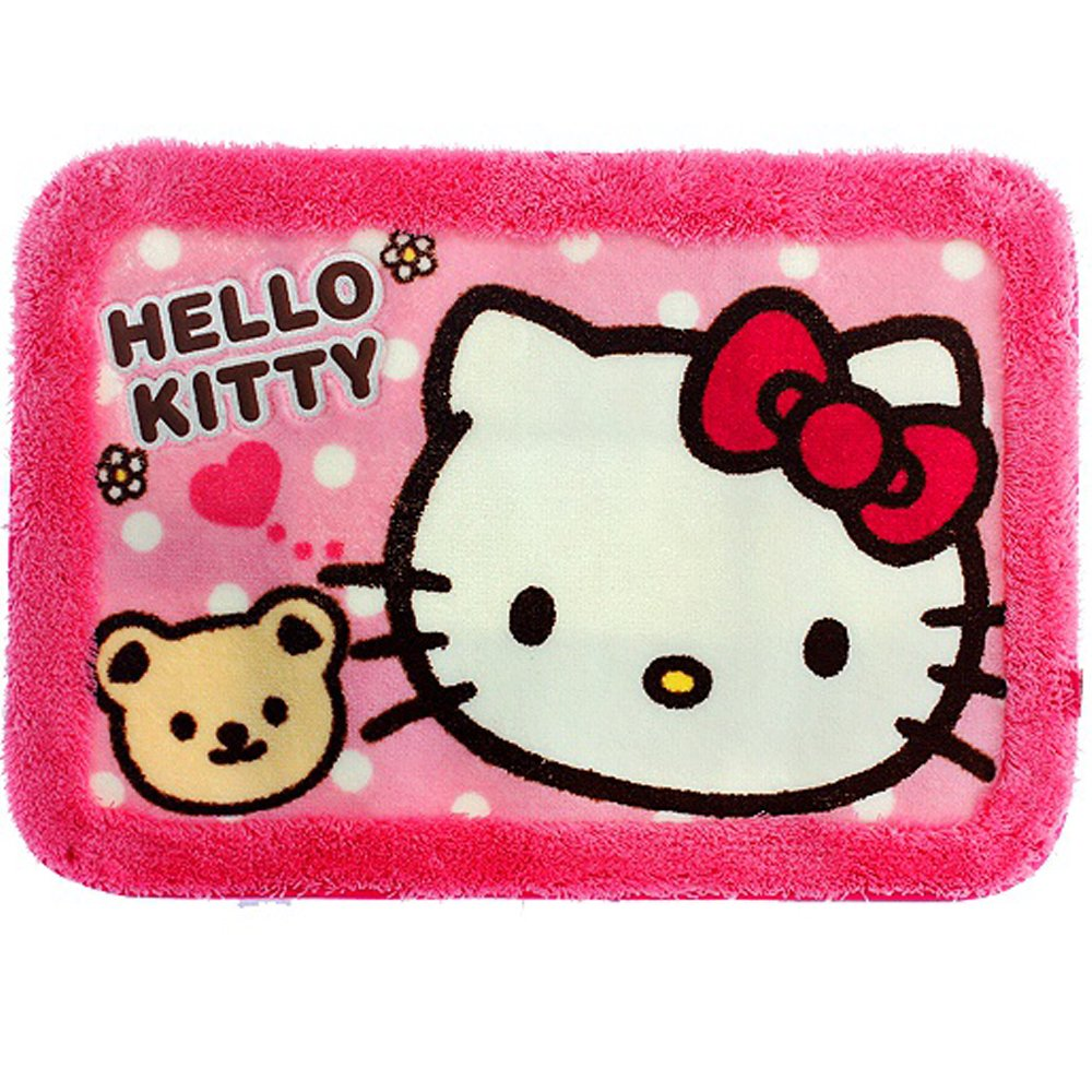 Hello Kitty Bath Mat Rug Bathroom Floor Non-Slip (Pink) by Hello Kitty (Image #1)