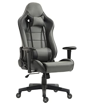 Tiigo Racing Silla Gaming Silla Ergonómica Silla de PC Gamer(Gris/Negro): Amazon.es: Hogar