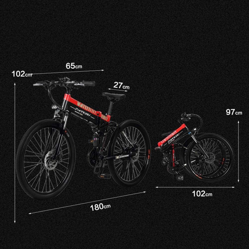 GTYW, Eléctrico, Plegable, Bicicleta, Montaña, Bicicleta, Ciclomotor Adulto, 70KM Y 1W Km Carga Gratis Dos Versiones,Orange-10000km: Amazon.es: Hogar