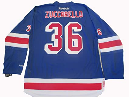 competitive price 00e53 6d766 Mats Zuccarello Autographed New York Rangers Jersey W/PROOF ...