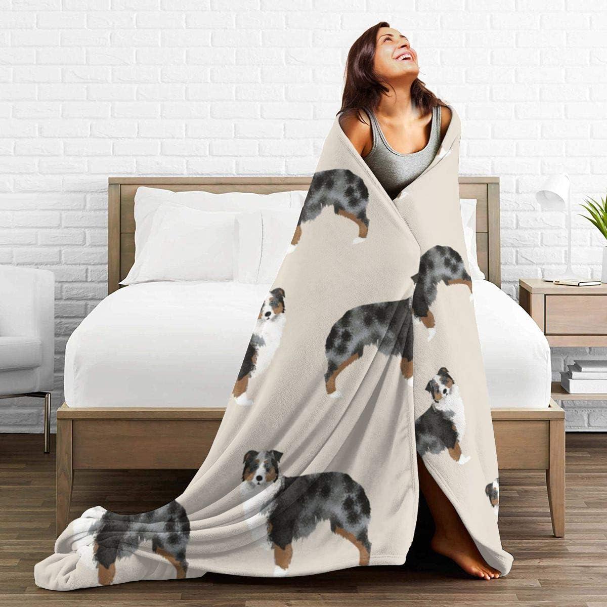 NOT Australian Shepherd Flannel Blanket Super Soft and Comfortable Fuzzy Luxury Warm Plush Microfiber Blanket Suitable for Bed Sofa Travel Four Seasons Blanket 50 x 40