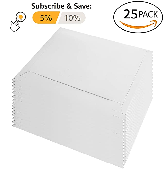 Amazon.com: 25 unidades rígido 12,5 x 9,5 de cartón ...