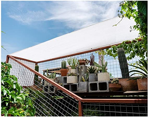 Toldo Vela Rectangular, Vela de Sombra Sombra Vela Toldo Vela 3x5m 4x4m Tela Blanca Sombrilla Tela De Malla Red Con Ojales Bloque UV Protector Solar Sombrilla para Pérgola Cubierta Canopy Patio Traser:
