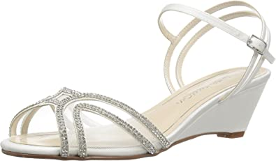 Caparros Women's Hilton Ivory Sateen Sandal