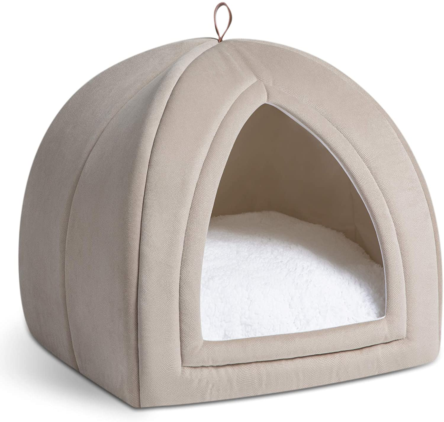 Bedsure Cat Bed For Indoor Cats Cat Houses Small Dog Bed 19 Inches 2 In 1 Cat Tent Kitten Bed Cat Hut Cat Cave With Removable Washable Cushioned Pillow Outdoor Dog